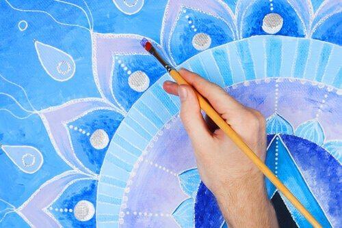 Målning med pensel