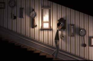 Man i trappa
