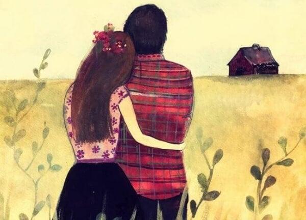 Par vid fält