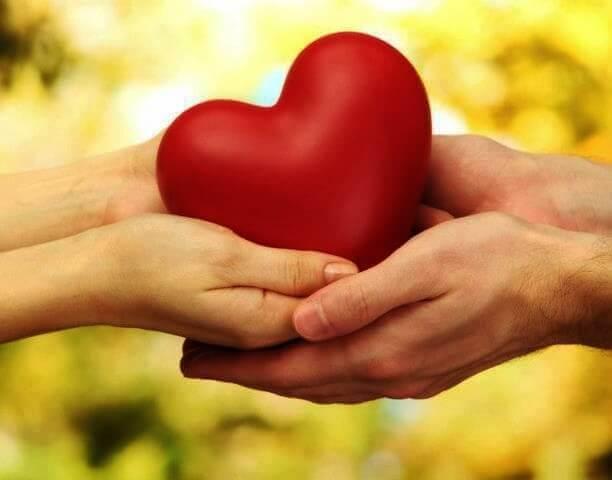 Två håller hjärta