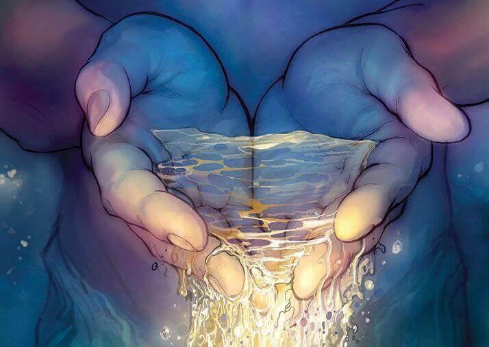 Vatten i händer