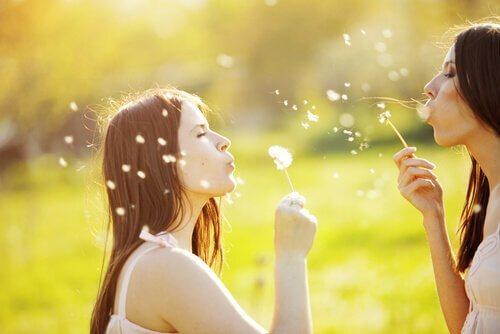 Bra vänner är det bästa för att hela själen