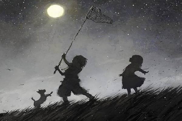 Barn med håv