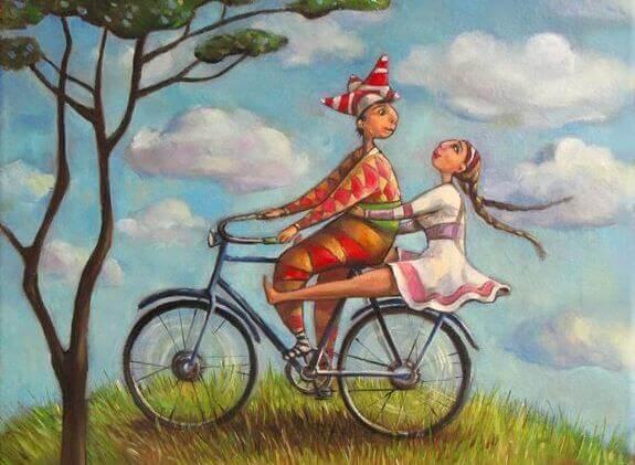 Cykeltur på kulle