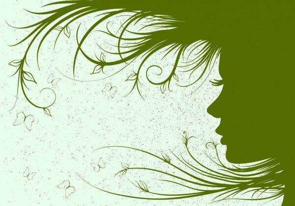 Kvinna i profil