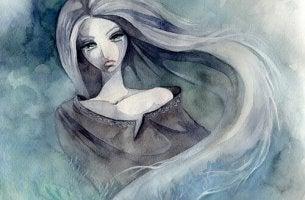 Kvinna i sorg
