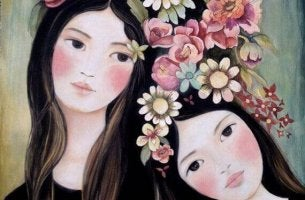 Kvinnor med blommor