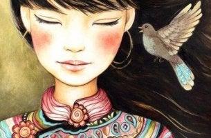Kvittrande fågel