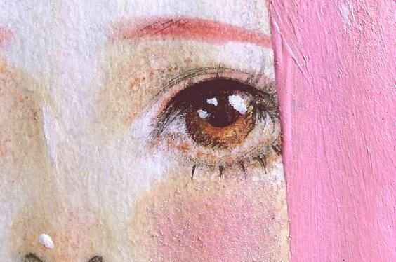Målning av flicka
