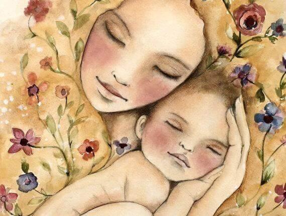 Mor och bebis