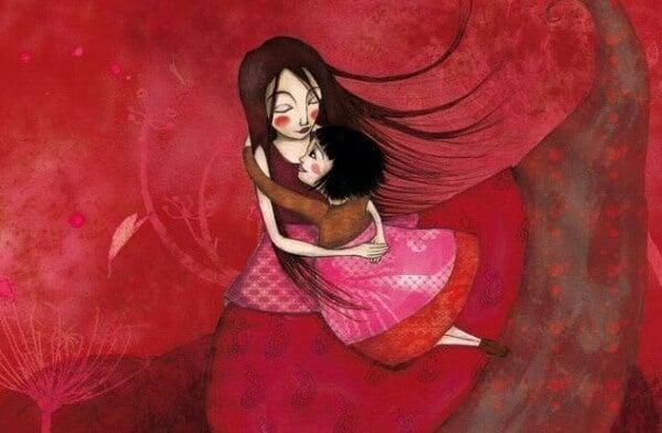 Barn behöver kramar för att känna sig som en del av världen