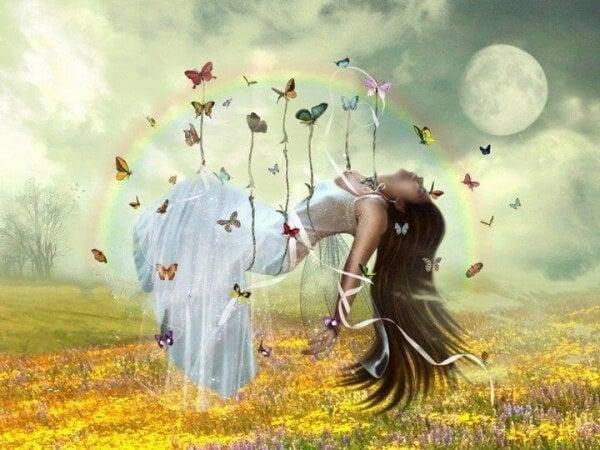 Svävar med fjärilar