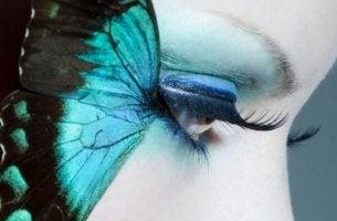 Den blå fjärilen