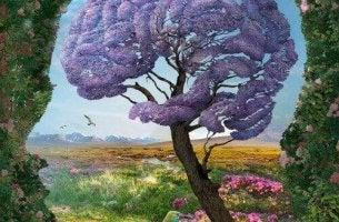Hjärnformat träd