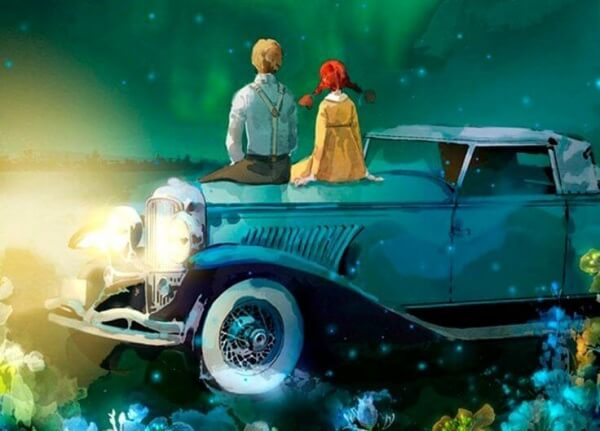 Par på motorhuv