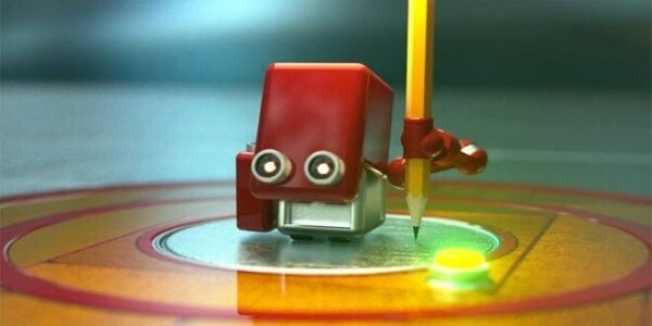 Robot med penna