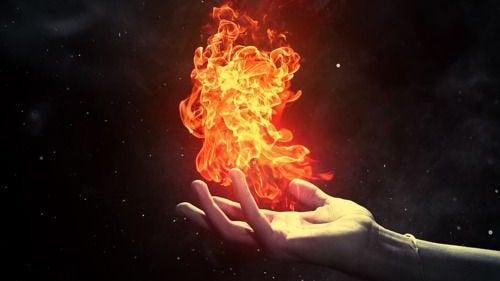 Eld i handen