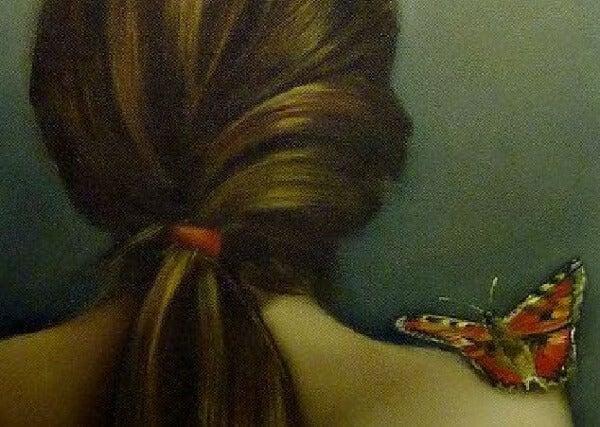 Fjäril på axeln