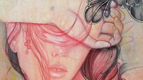 Kvinna i rosa