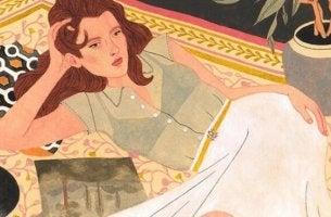 Kvinna på matta