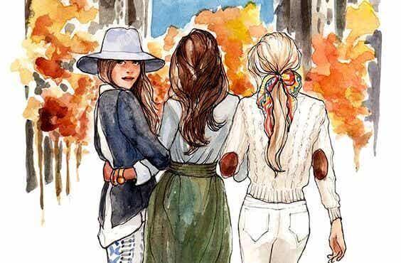 Systrar är förenade genom hjärtat