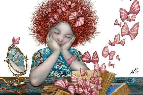 Fjärilar i bok