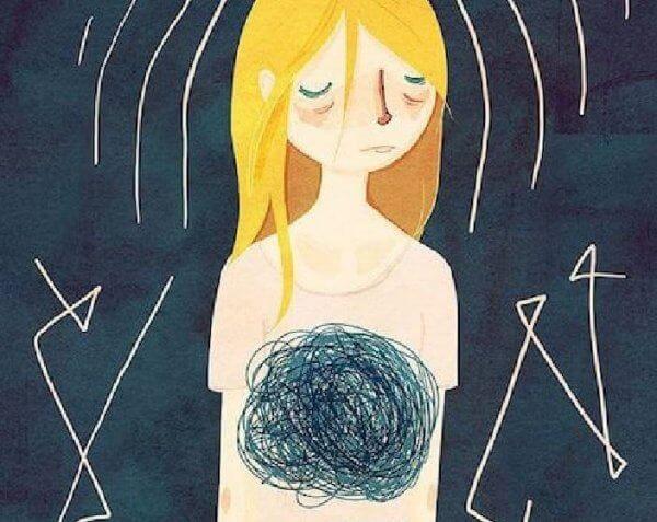 Flicka med ångest