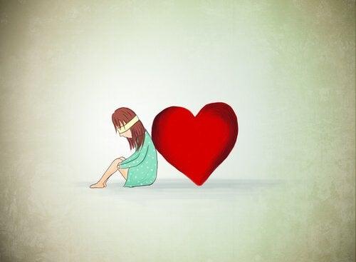 Flicka och hjärta