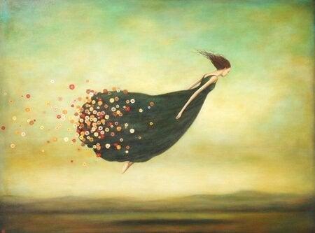 Flygande kvinna