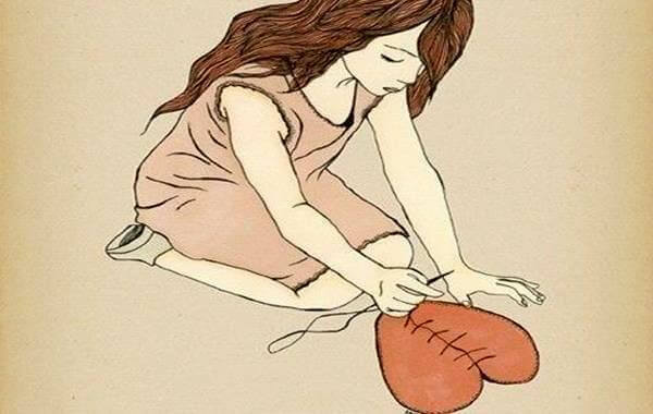 Kvinna lagar hjärta