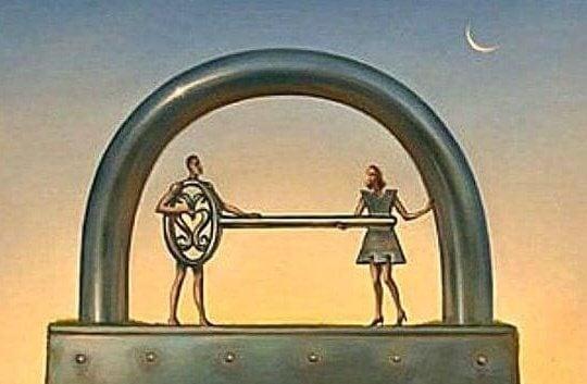 Par med nyckel