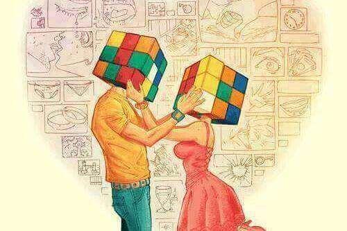 Rubiks kuber som huvuden