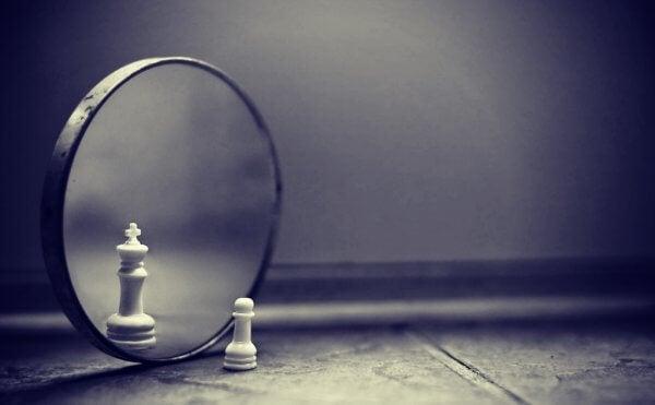 Schackpjäs i spegel