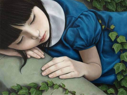 Sovande flicka