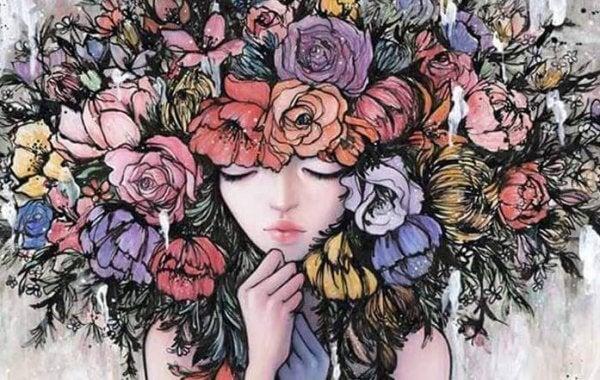 Blommor som hår