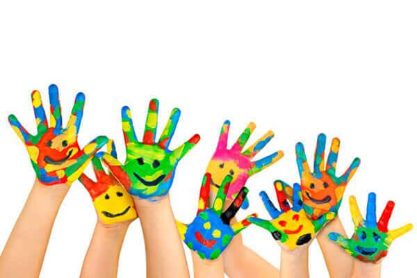 Färgglada händer