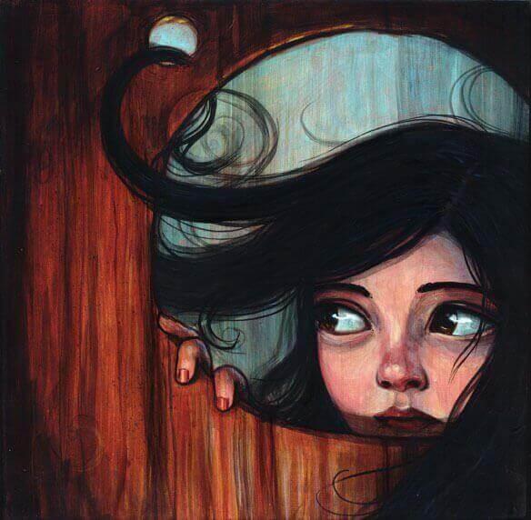 Flicka i hål