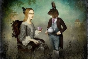 Hare serverar kaffe