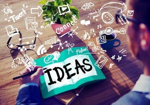 Idéer i skrivbok