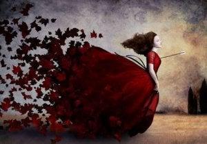 Klänning av löv