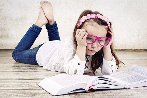 Studerande tjej