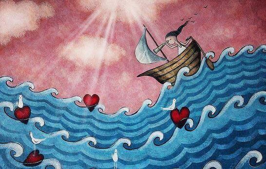 Båt på hav