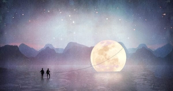 Drar månen