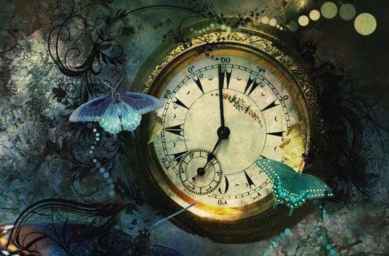 Fjärilar vid klocka