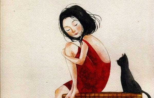 Katt och kvinna