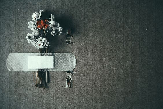 Plåstrade blommor