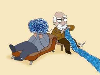 Att träffa en psykolog betyder inte att du är galen