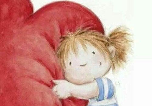 Hjärtat behöver tillgivenhet, välvilja och massor av kramar