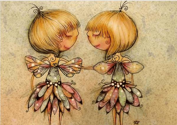 Flickor med vingar