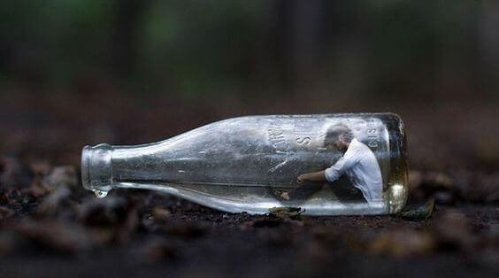 Man i flaska